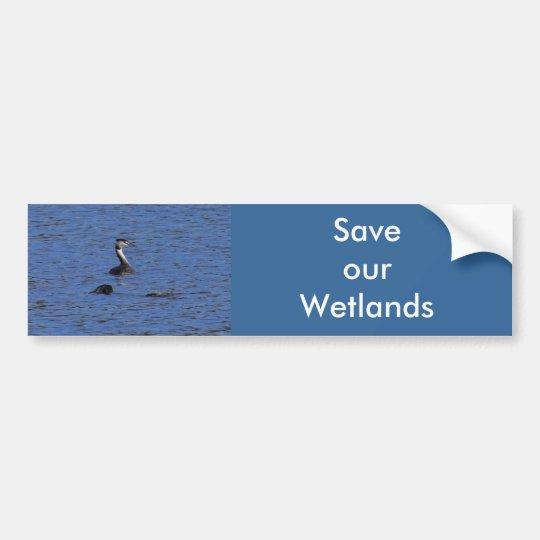 Great Crested Grebe Bumper Sticker