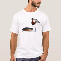 Great Crested Grebe Men's Basic T-Shirt