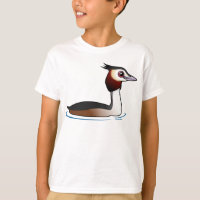Great Crested Grebe Kids' Hanes TAGLESS® T-Shirt