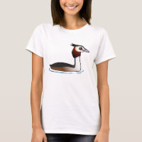 Great Crested Grebe Women's Basic T-Shirt