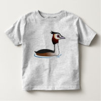 Great Crested Grebe Toddler Fine Jersey T-Shirt