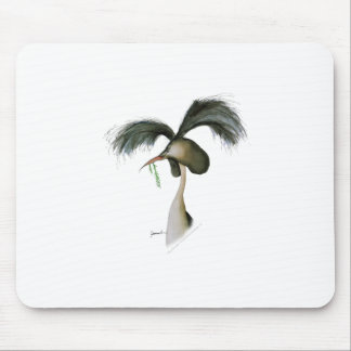 great crested grebe, tony fernandes mouse pad