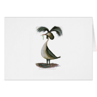 great crested grebe wild bird, tony fernandes cards