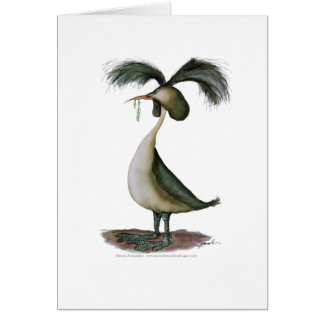 great crested grebe wild bird, tony fernandes greeting cards