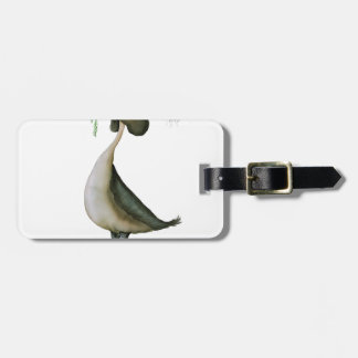 great crested grebe wild bird, tony fernandes bag tag