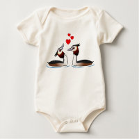 Great Crested Grebes in Love Infant Organic Creeper