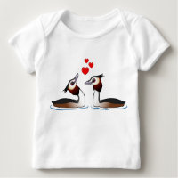 Great Crested Grebes in Love Baby Fine Jersey T-Shirt