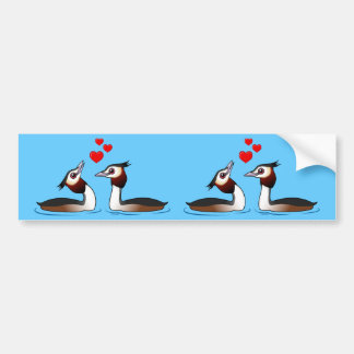 Great Crested Grebes in Love Bumper Sticker