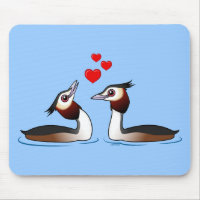 Great Crested Grebes in Love Mousepad