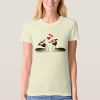 Great Crested Grebes in Love Women's American Apparel Organic T-Shirt