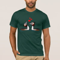Great Crested Grebes in Love Men's Basic American Apparel T-Shirt