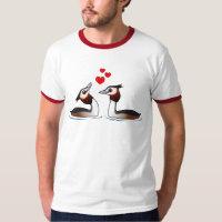 Great Crested Grebes in Love Men's Basic Ringer T-Shirt