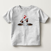 Great Crested Grebes in Love Toddler Fine Jersey T-Shirt