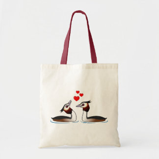 Great Crested Grebes in Love Tote Bag
