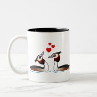 Great Crested Grebes in Love Two-Tone Mug