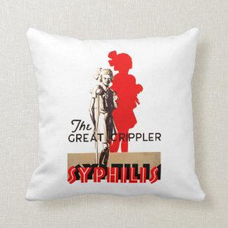 Great Crippler ~ Syphilis Throw Pillow