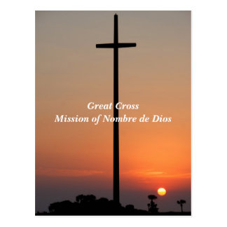 Great Cross Mission of Nombre de Dios Postcard