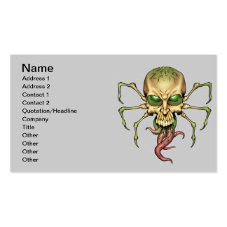 Great Cthulhu Alien Spider Skull Lovecraftian Art Business Card