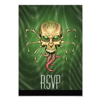 Great Cthulhu Alien Spider Skull Lovecraftian Art Card