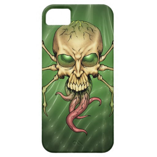 Great Cthulhu Alien Spider Skull Lovecraftian Art iPhone 5 Covers