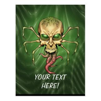 Great Cthulhu Alien Spider Skull Lovecraftian Art Postcard