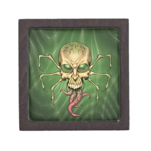 Great Cthulhu Alien Spider Skull Lovecraftian Art Premium Trinket Box