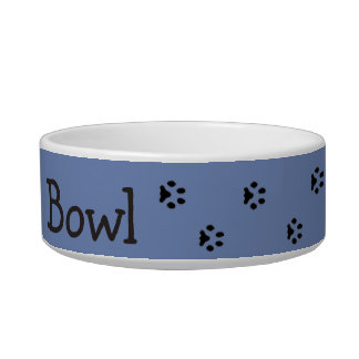 Great custom pet gift for dog or cat owners. bowl