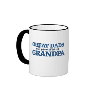 Great Dad get promoted to Grandpa Ringer Mug