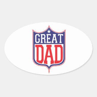 Great Dad Oval Sticker