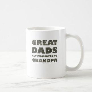 Great Dads Get Promoted (grunge) Coffee Mug