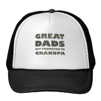 Great Dads Get Promoted (grunge) Hat