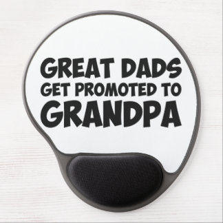 Great Dads Get Promoted To Grandpa Gel Mouse Pad
