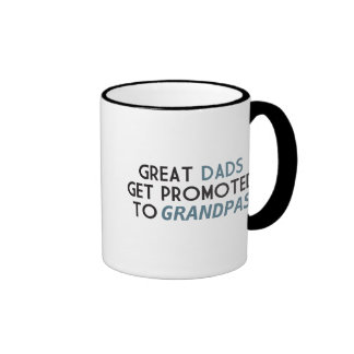Great Dads Get Promoted to Grandpas Ringer Coffee Mug