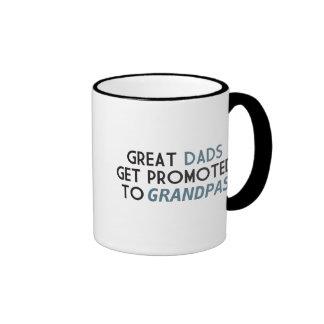 Great Dads Get Promoted to Grandpas Ringer Mug