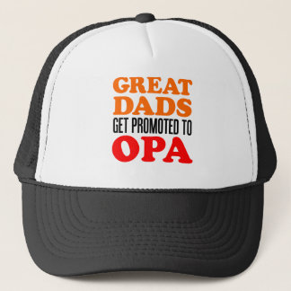 Great Dads Promoted To Opa Trucker Hat