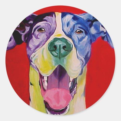 Great Dane #1 Round Sticker