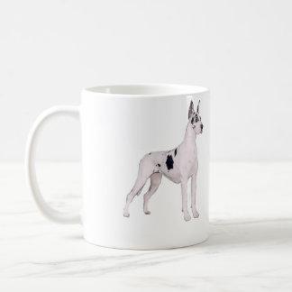 Great Dane (A) - Harlequin standing Coffee Mugs