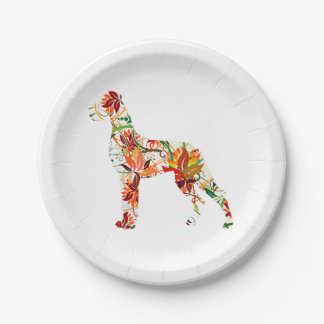 Great Dane Abstract Paper Plate