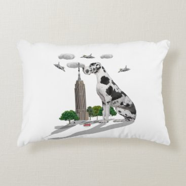 Beach Themed Great Dane Accent Pillow