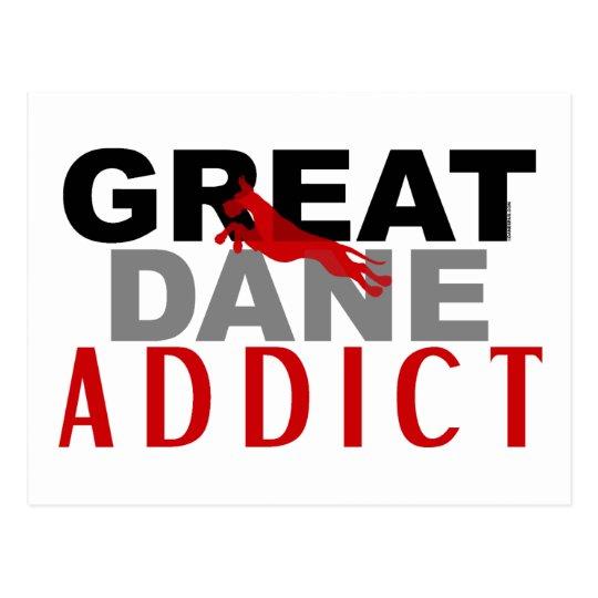 Great Dane Addict Postcard