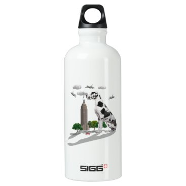 Beach Themed Great Dane Aluminum Water Bottle