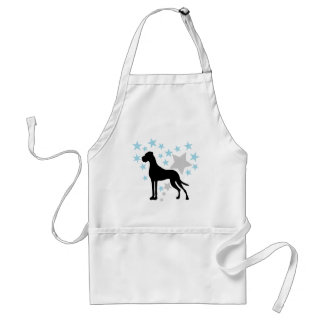 Great Dane and a Star Heart Adult Apron