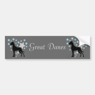 Great Dane and a Star Heart Bumper Sticker
