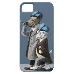 Great Dane and Bulldog - Funny Vintage Dogs iPhone 5 Covers