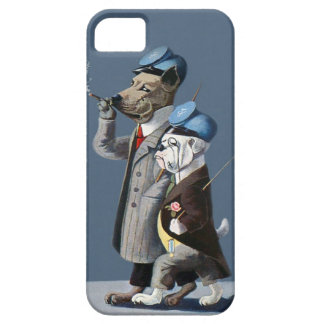 Great Dane and Bulldog - Funny Vintage Dogs iPhone SE/5/5s Case