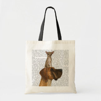 Great Dane and Chihuahua Tote Bag