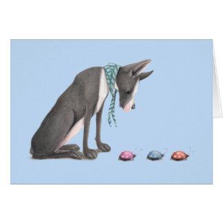Great Dane and Ladybugs Card