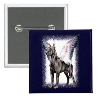 Great Dane Angel Black Pinback Button