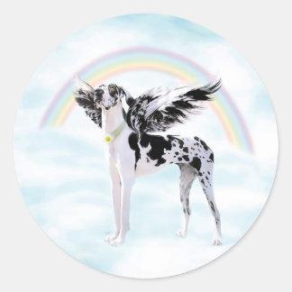Great Dane Angel Harle UC Round Sticker
