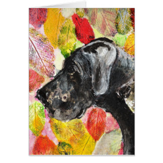 Great Dane Art twoheads Card